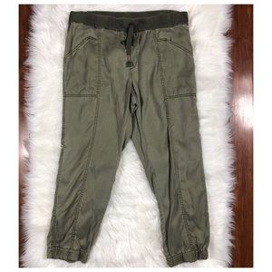 Anthropologie Hei Hei Green Lyocell Joggers
